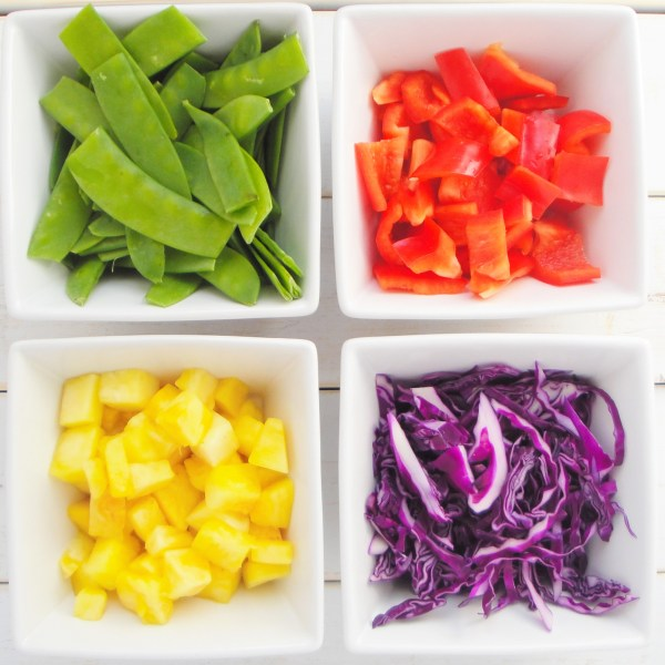 stir-fry-snow-peas-red-cabbage-red-bell-pepper-pineapple