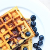Ketogenic Gluten Free Blueberry Waffles