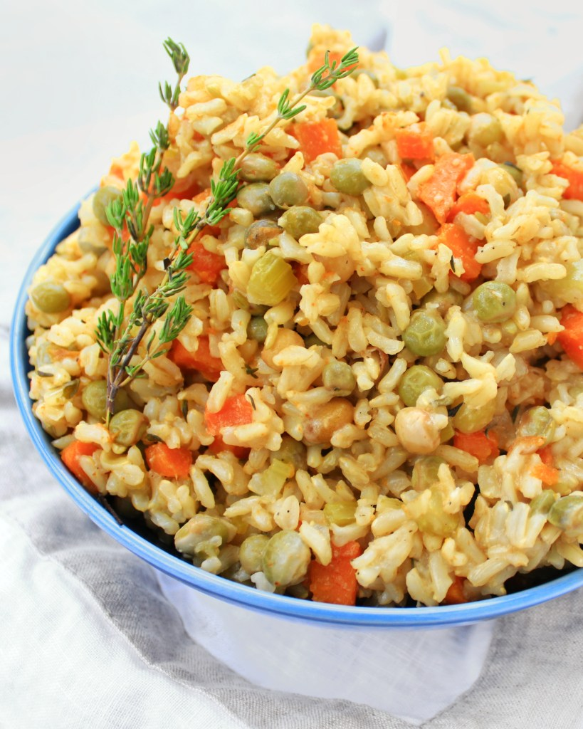 Brown Rice & Pigeon Peas (Gluten Free Vegan)
