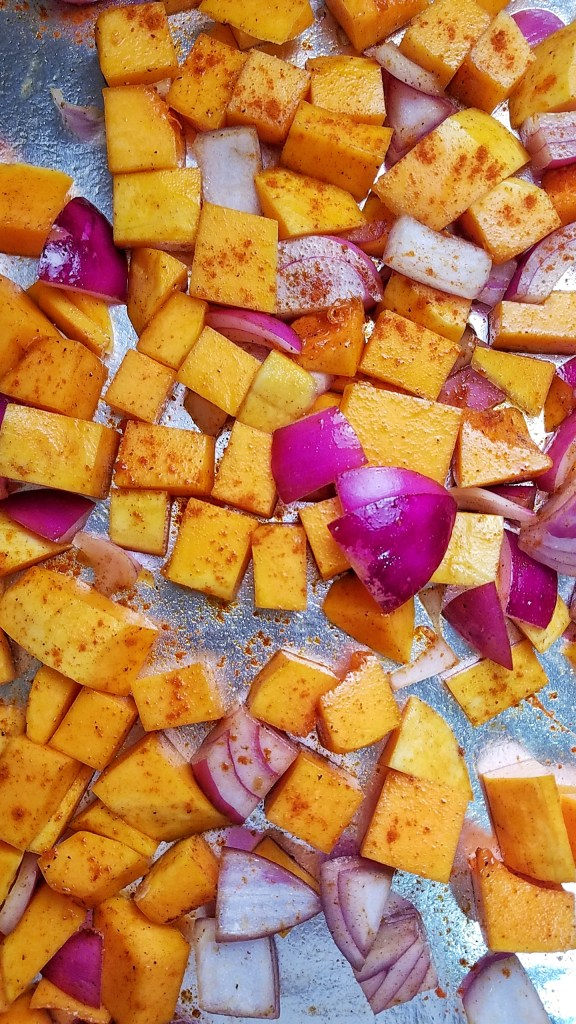Butternut Squash and Red Onions