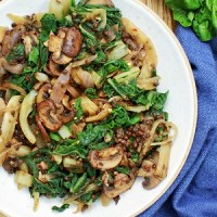 Swiss Chard with Fennel, Lentils & Mushrooms