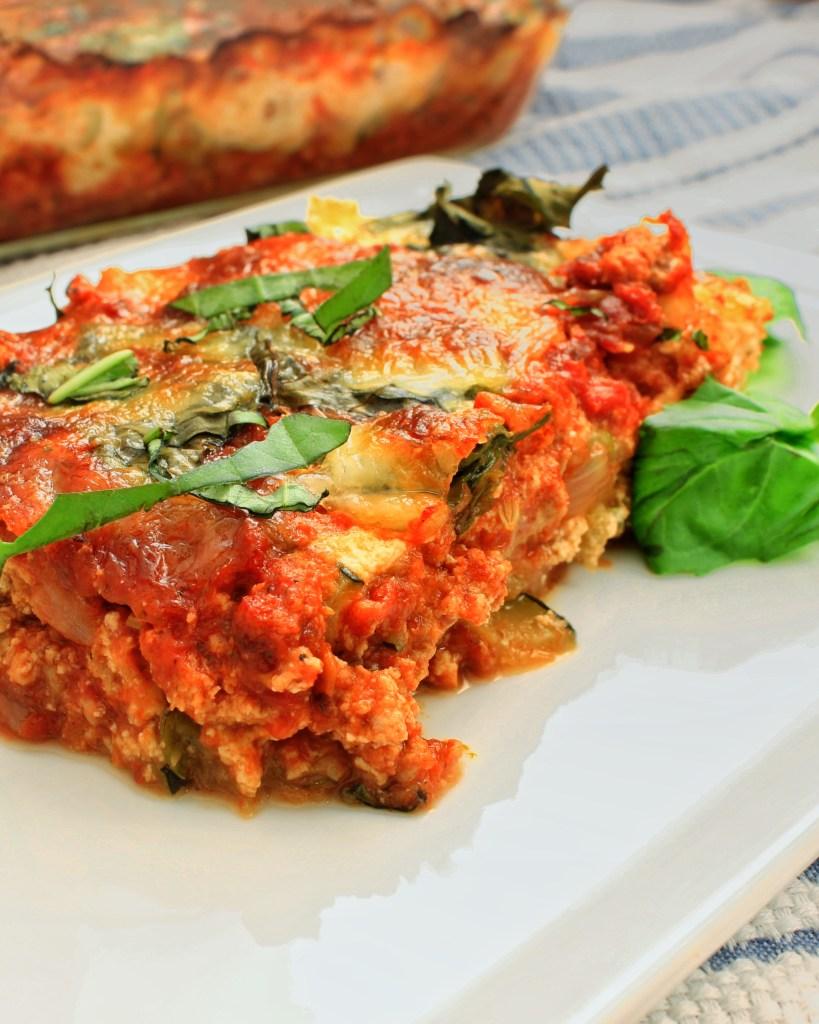 Zucchini Turkey Lasagna Fresh Basil (Gluten Free)