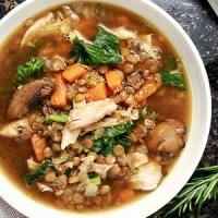 Turkey Lentil Kale Soup (Gluten Free)