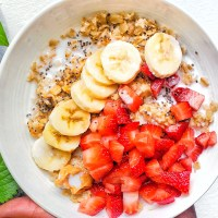 Peanut Butter Banana Berry Oatmeal My Body My Kithcen