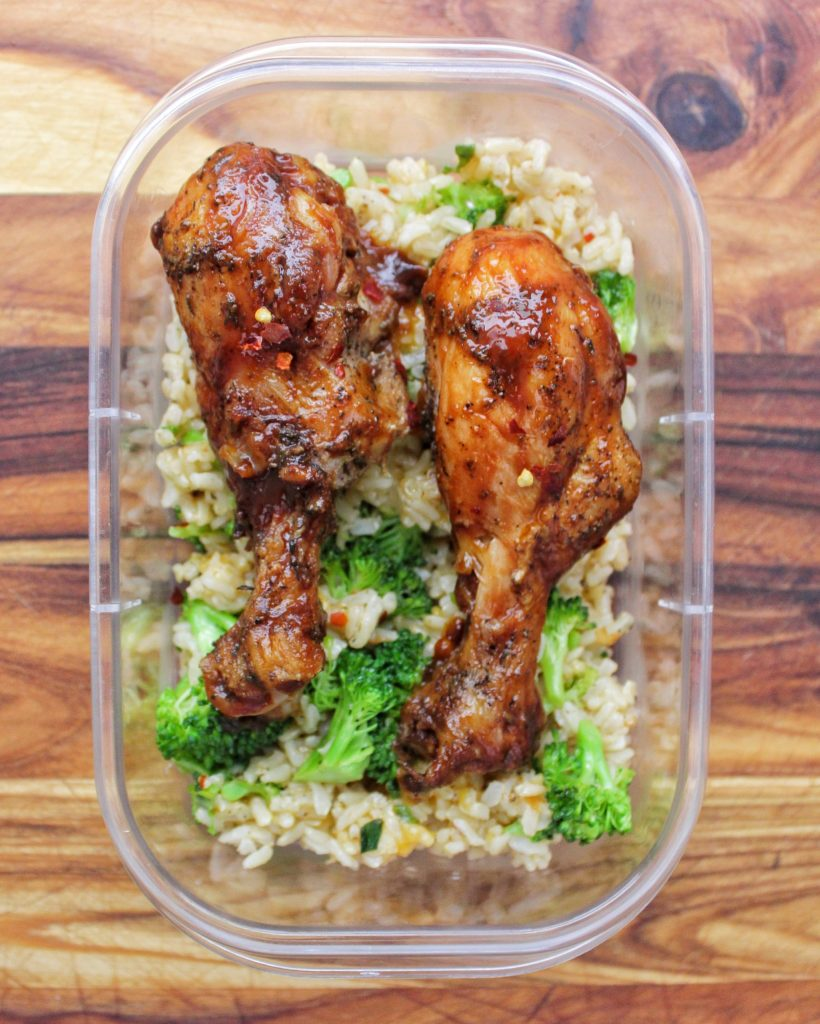 Baked BBQ Chicken & Garlic Cheddar Broccoli Brown Rice My Body My Kitchen