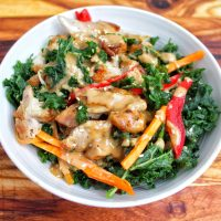 Massaged Kale Chicken SpicyMy Body My Kitchen