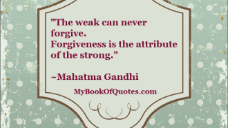 Quote about forgiveness and love