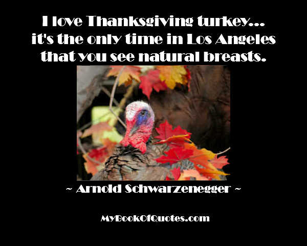I love Thanksgiving turkey Arnold Schwarzenegger