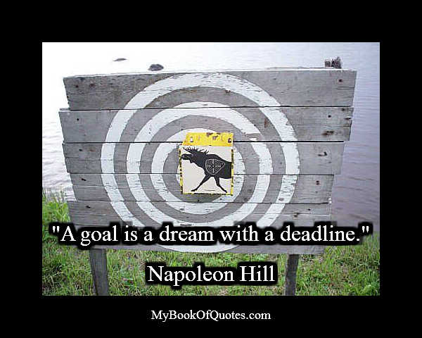 A goal is a dream with a deadline Quote