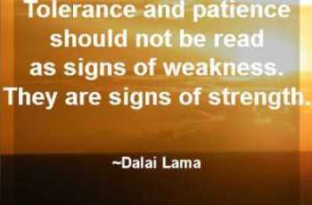 Tolerance and Patience Quotes