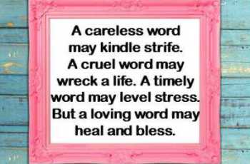 Poem A careless word may kindle strife