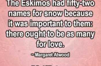 The Eskimos had fifty-two names for snow