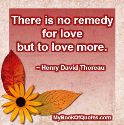 There is no remedy for love