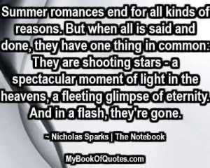 Summer romances end for all kinds of reasons