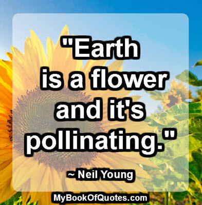 """""""Earth is a flower and it's pollinating."""" ~ Neil Young"""