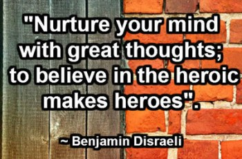 Nurture your mind with great thoughts