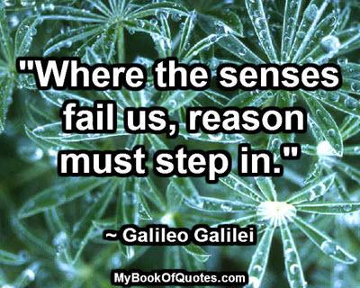 Where the senses fail us