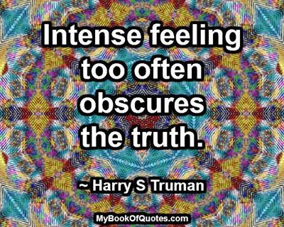 Intense feeling