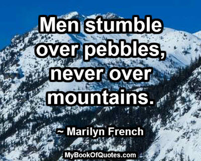 Men stumble over pebbles