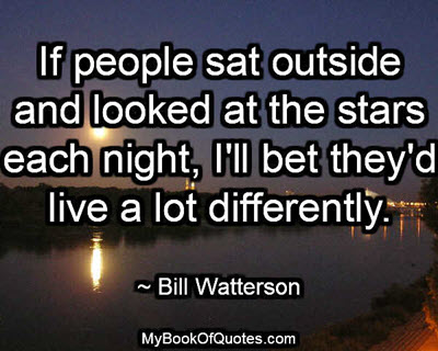 If people sat outside