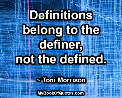 Definitions belong to the definer