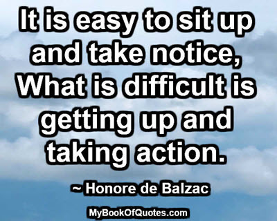 Getting up and taking action