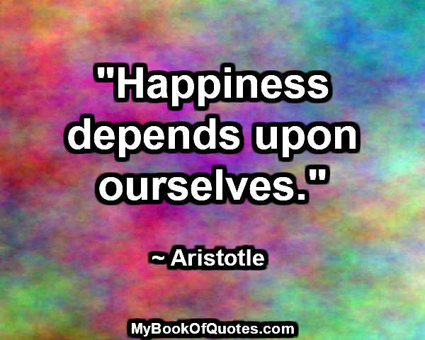 happiness-depends-upon-ourselves