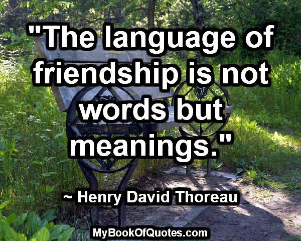 the language of friendship