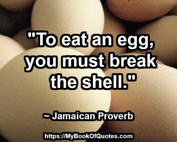 break the shell