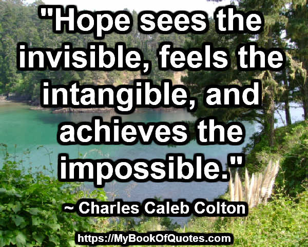 hope sees the invisible