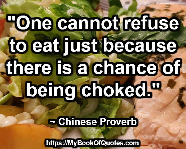 one cannot refuse to eat