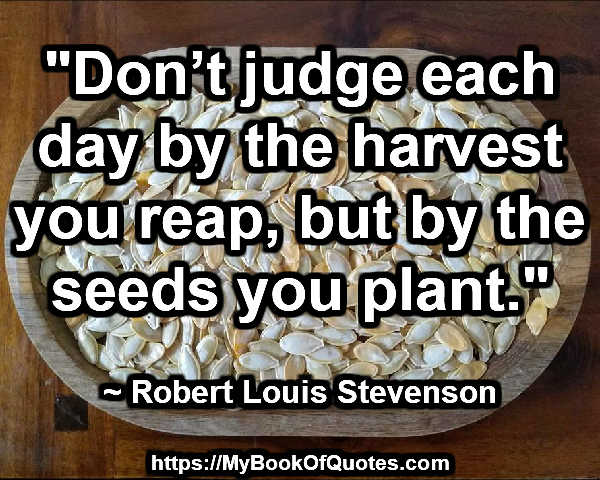 the seeds you plant