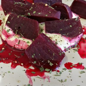White Wine Poached Beetroot