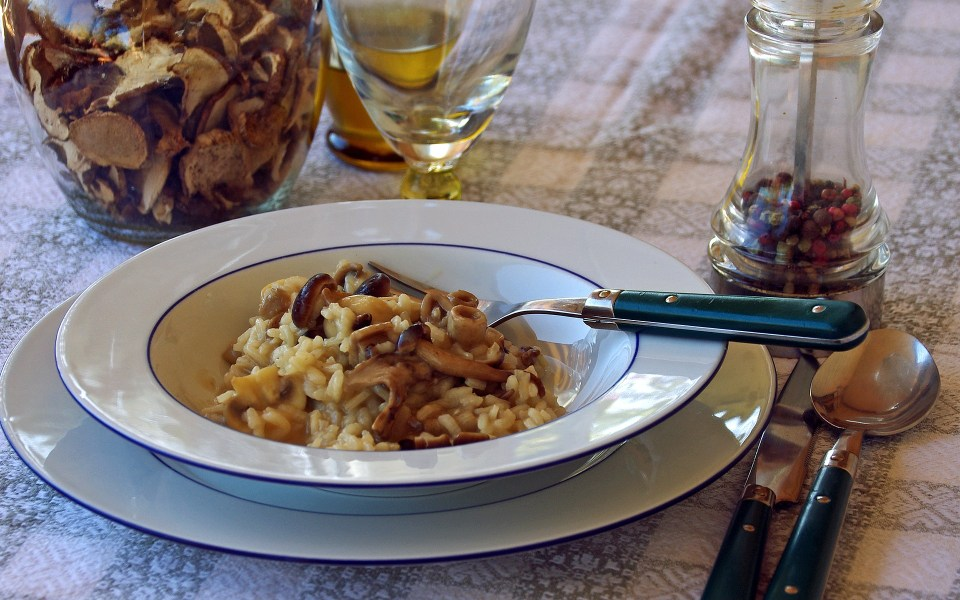 Exotic Mushroom Risotto will pair with Pinot Noir