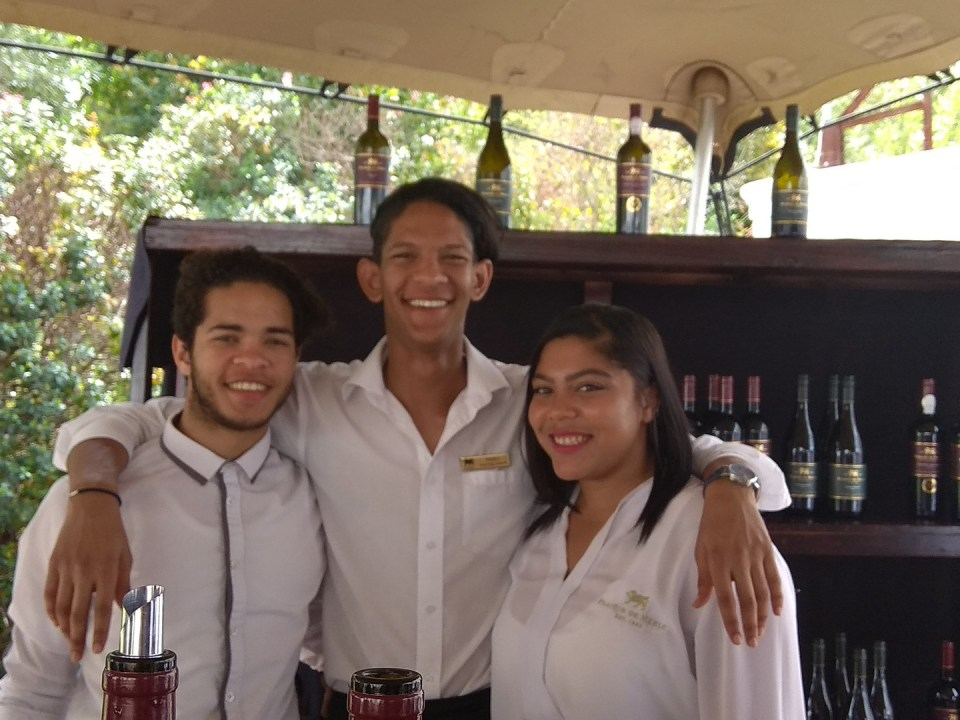 The amazing team working hard at Franschhoek uncorked