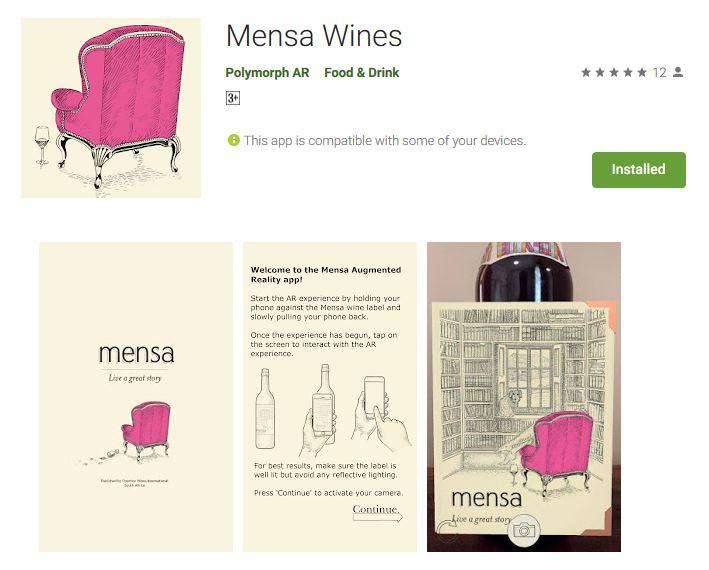 Mensa Wine App
