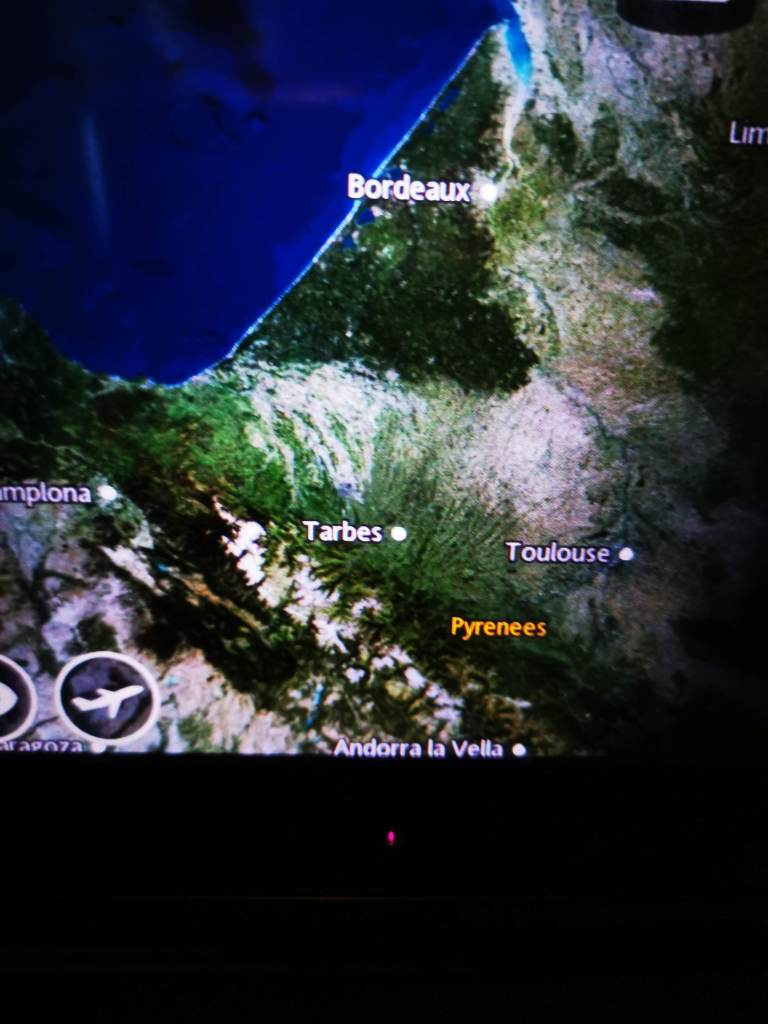 on screen map of your flight path