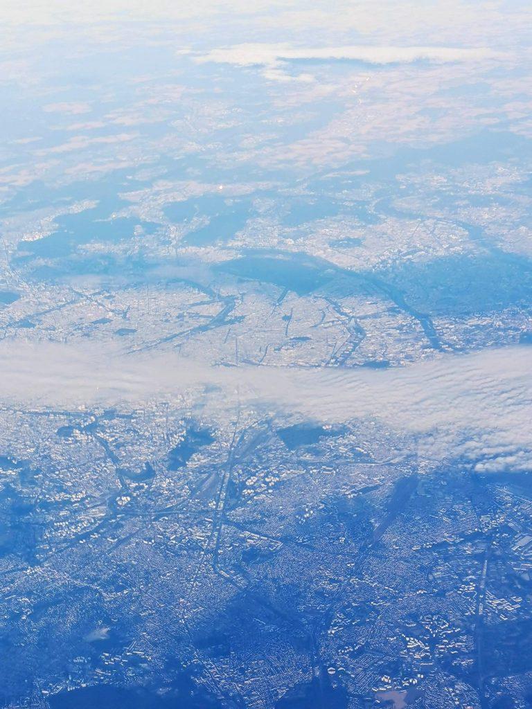 aerial view for virigin atlantic flight v 462