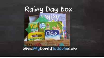 Rainy Day box for toddlers