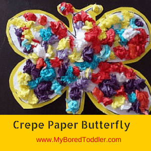 crepe paper Butterfly toddler craft
