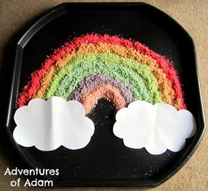 toddler spring activities edible rainbow
