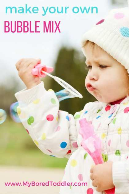 make your own easy bubble mix recipe at home cheap and simple bubble mix
