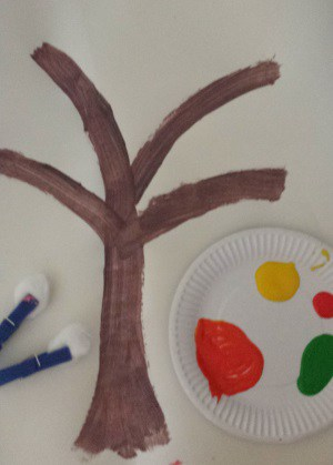autumn tree toddler craft