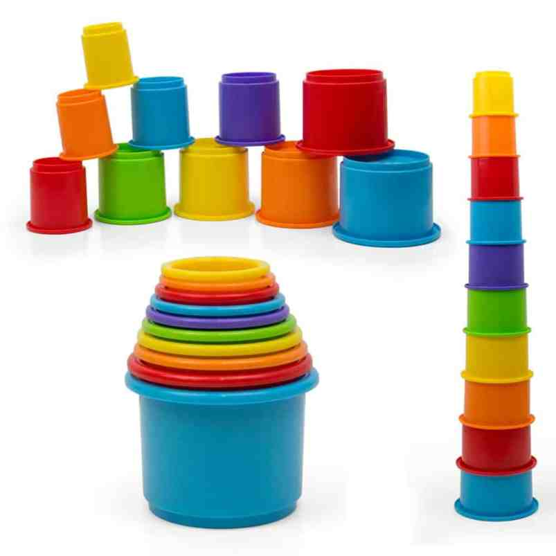 plastic stacking cups for toddler bath time