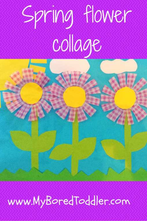 spring craft for toddlers flower collage