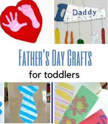 toddler father's day crafts and toddler activities for dad that they can make 2 year old 3year olds