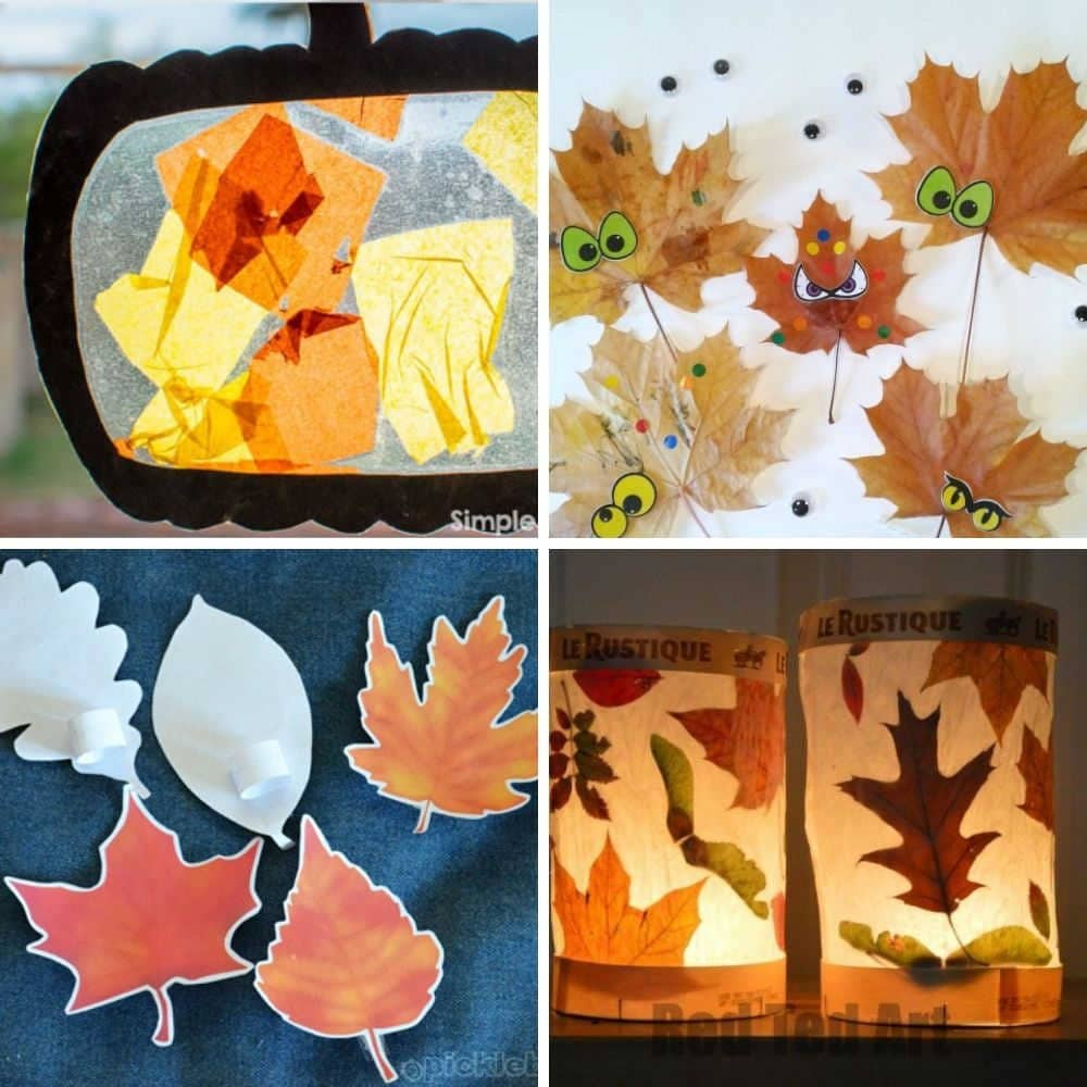 easy fall and autumn craft ideas for toddlers and preschoolers 1 year olds 2 year old 3 year old