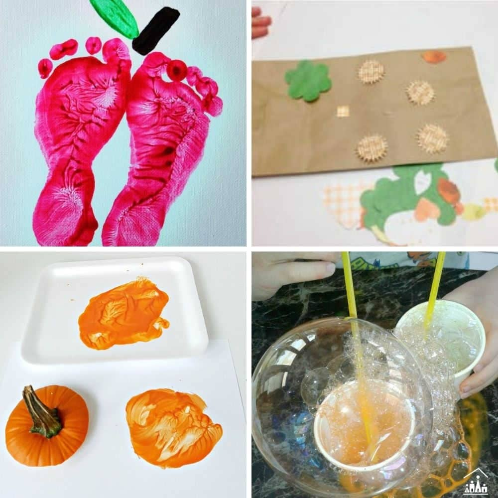 easy fall crafts for toddlers and preschoolers to do at home - fun fall toddler activity ideas