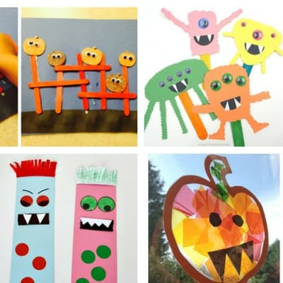 Halloween crafts for toddlers a