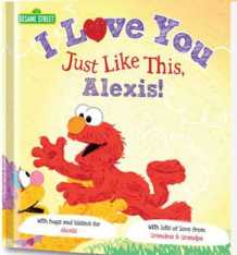 sesame street personalized gift
